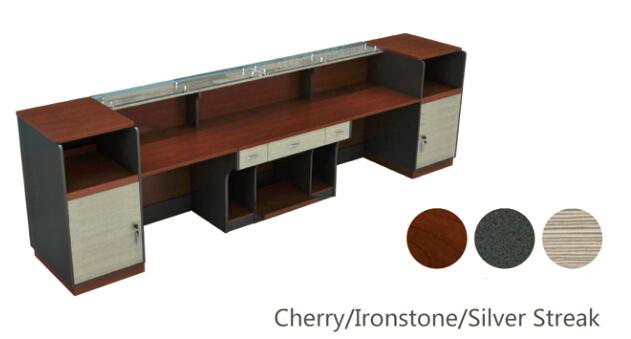 Modern Design Melamine Reception Table Reception Desk