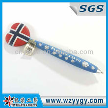 National Flag Shape Swing Soft Pvc Pen