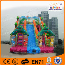 Environmental attractive for kids interesting inflatable animal kingdom slide