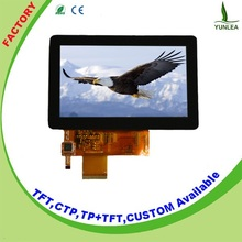 12 month warranty Digital interface tft display LCD 5 inch