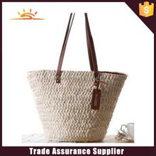 2015 new design fashion straw beach bag