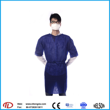 non woven surgical hospital clothing patient gown for medical