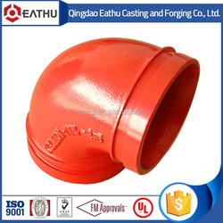 Grooved Pipe Fittings 22.5 Degree Elbow