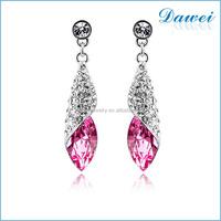 Diamond Dangler Earrings Women Alloy Crystal Earrings
