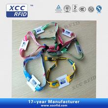 13.56Mhz Desfire EV1/S50 1K NFC Fabric Wristband For Event