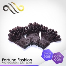 100% Indian remy human hair Fortune wholesale fumi hair weave, remy funmi curl hair
