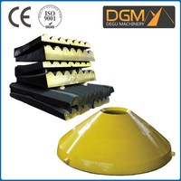 Good performance cone crusher wear mining equipment parts with mantle and concave