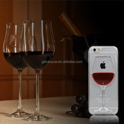 PC material red wine glasses cell phone covers