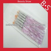 2012 best seller kolinsky acrylic nail brush,beauty 7pcs cosmetic brush nail art brush set for gel nail
