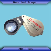 Fashion design Metal Folding jewerly loupe only LED Lights with Buyer's logo service offered