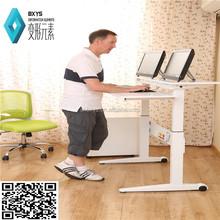 bamboo table top manual screw height adjustable desks