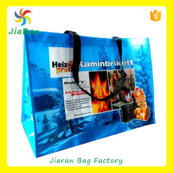 Full color UV printing custom logo non woven shopping bag for sale