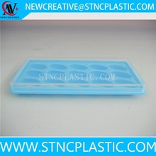 2015 hot sale plastic ice cubes tray with lid