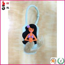 OEM custom branded logo fashion silicone hand sanitizer holder