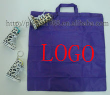 2014 hot selling non woven foldable reusable recyclable cheap print purple handheld shopping bag for wholesale and promotion