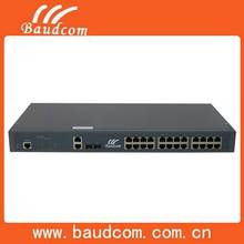 2 ports Gigabit Manageable fiber optic switch with 24 Fast Ethernet ports