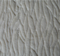 Polyester embossed fake fur fabric for winter coat