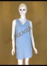 Original Design Ladies Blue Simple Design Plus Size Dress