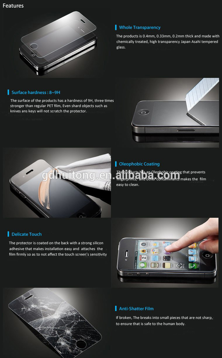 9H anti-scratch screen protector! Tempered glass screen protector_4