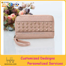 2014 New rivet wallet for women multifunction handbag mobilephone bag