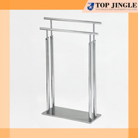 2 Rail upside-down U shape Oblique Angle Iron Tube Towel Rack