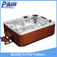 hot selling with air bubble relax spa combo whirlpool and massage bathtub