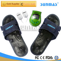 PE reflexology silicon rubber relax electronic pulse foot massager wholesale manufacture SM9188