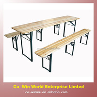 Wood folding tables and chair garden beer table and bench outdoor furniture
