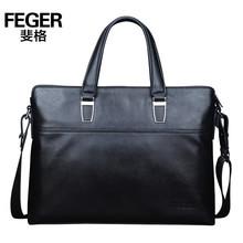 New Arrival Black Genuine Leather Men Business Handbag Leather Briefcase Messenger Bag