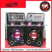 "fashionable design!! PA 2.0 active speaker 8"" sound speaker box DJ speaker with light"
