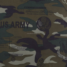 Camouflage tent fabric