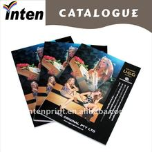 folded advertising color brochure printing
