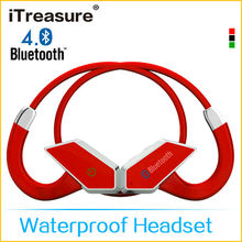 iTreasure new design bone conduction waterproof practical bluetooth headset