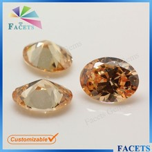 Brazilian Gold Jewelry Factory Direct Sale Champagne Stone Oval Shaped Topaz Stone Price Rough