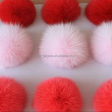 Real Natural Fox Fur Ball&Fox Fur Pompon Fox Vest Accessory