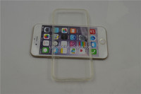 High quality Ultra-thin Transparent clear soft TPU Protective Back Cover Case for Apple iPhone 6