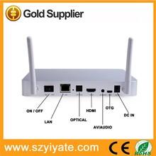 2 WiFi antennas rk 3188 quad core tv box with 2gb ram 8gb rom support OEM