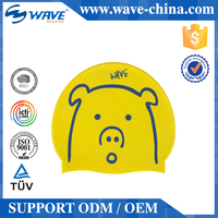 Quality Assured New Pattern Various Design Kid Custom Logo Silicone Swim Cap