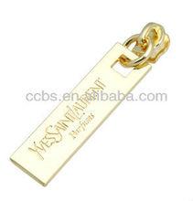 High Quality No.3 Gold Fashion Non Lock Nylon Slider