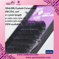 OEM Wholesale Silk/Mink Eyelash Extensions 0.07