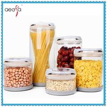 Clear Borosilicate Slant Glass Storage Jar Glass Canister Glass Spice Jar Set