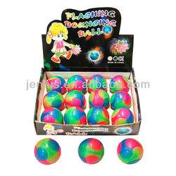 tpr eco-friendly flashing bouncy ball for promotional and toys,promotional flashing bouncy ball,flashing ball