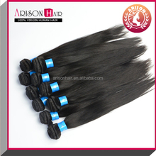 Top Quality 100% Virgin Brazilian Human Hair Natural Color Straight Virgin Human Hair Extensions/Wefts Accept Paypal Payment