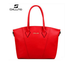 SXLLNS 2015 fashion genuine leather handbag brief brand bag for women
