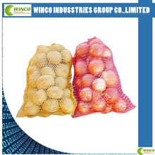 Wholesale knitted net raschel onion mesh bags for sale