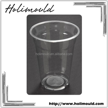 Disposable Round FDA LFGB BPA Free Plastic Cup With Lid