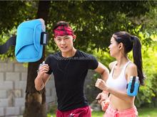 2015 new design green neoprene lightweight armband bag, mobile bag