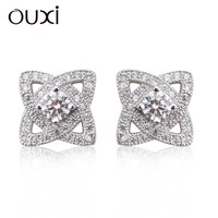 Fashion Star Shaped Colorful Crystal full Rhinestone Stud Earrings for Women Jewelry