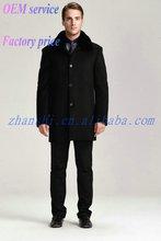 ultimo disegno a buon mercato moda nero classico uomo duffle cappotto di lana