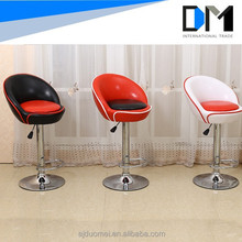 Modern Leather Round Bar Chair/Leather Bar Stool Furniture Bar Stools For Sale